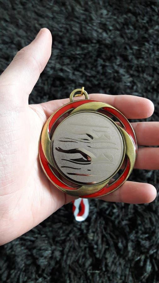 En medalj royaltyfria bilder