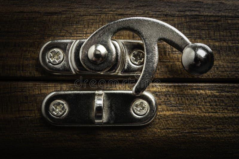 En metall som glider låset, låser royaltyfri fotografi