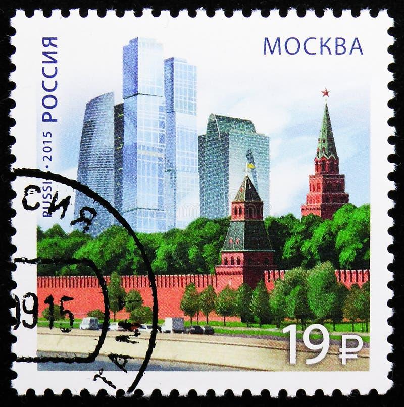 En modern arkitektur, Moskva, Ryska federationen och Republiken Azerbajdzjan, omkring 2015 royaltyfri fotografi