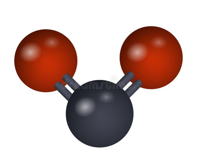 En molekyl av koldioxid vektor illustrationer