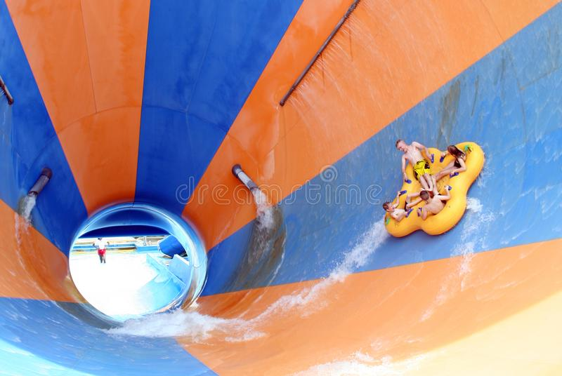 En Mondo Monsoon Thrill Ride på blötningstaden, konungö royaltyfri foto