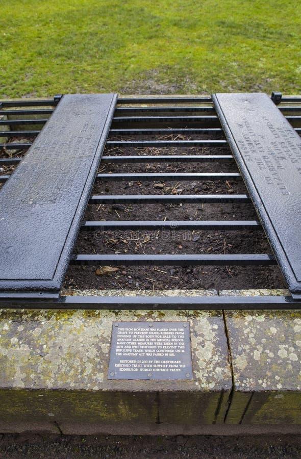 En Mortsfae i den Greyfriars kyrkogården i Edinburg royaltyfri bild