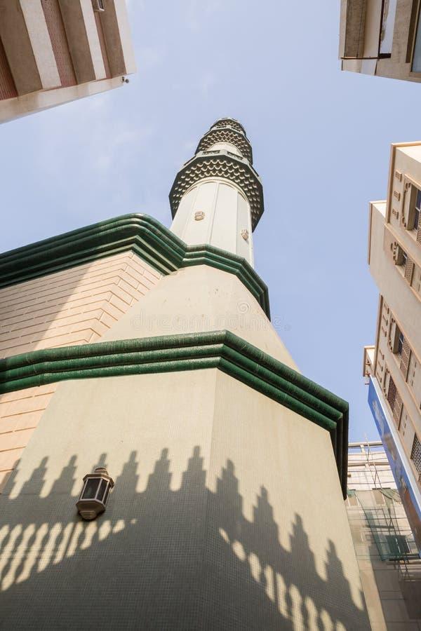 En moské i den Dubai deiraen, Förenade Arabemiraten royaltyfri foto