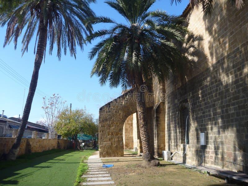 En moské i den nicosia staden royaltyfri foto