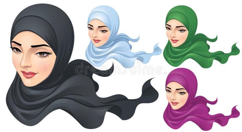 En muslimsk kvinna med Hijab arkivfoto