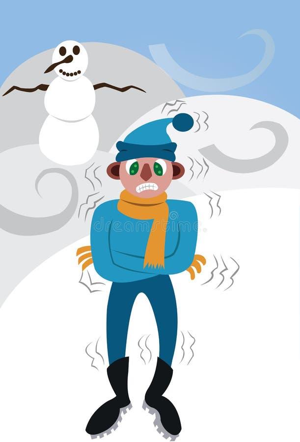 En mycket mycket kall vinter royaltyfri illustrationer
