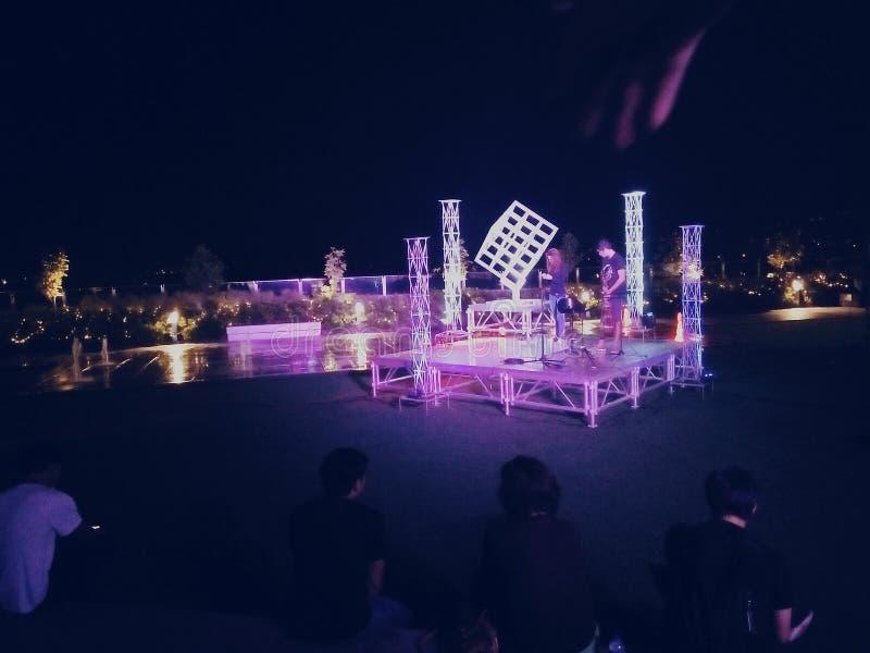 En natt i Cebu arkivbild