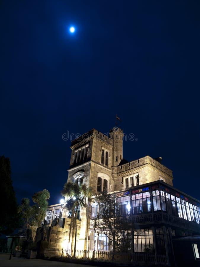 En natt på det Larnach slottet arkivfoto