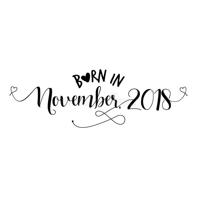 En novembre 2018 - illustration soutenue de vecteur de crèche illustration de vecteur
