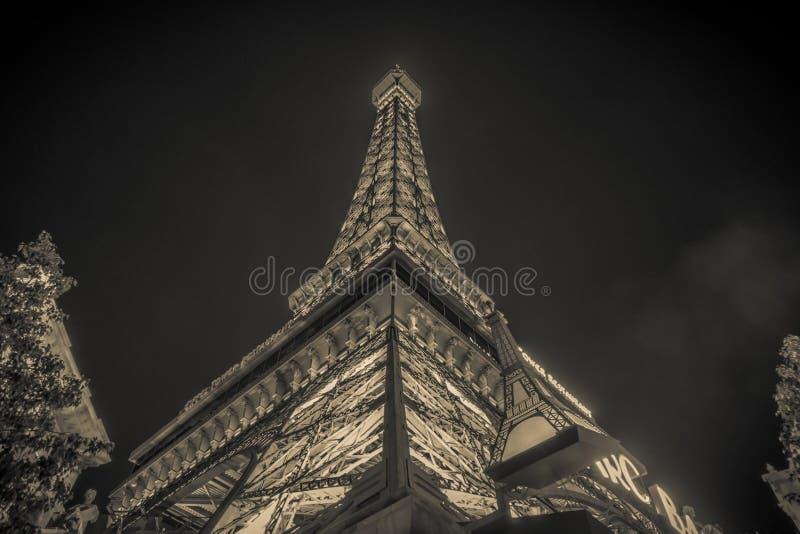 En noviembre de 2017 Las Vegas, Nevada - la tarde tiró de la torre Eiffel a fotografía de archivo libre de regalías