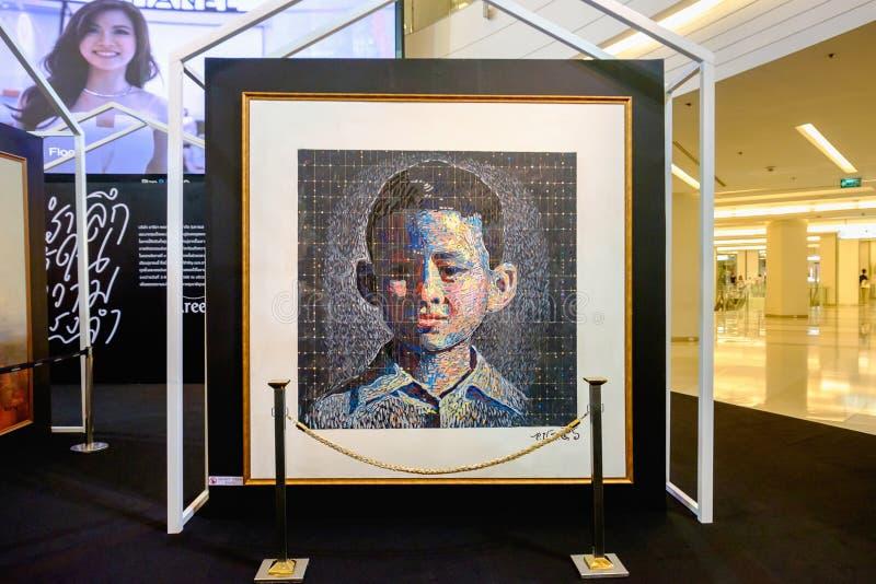 En nuestro evento eterno de la memoria, actual foto de rey Rama 9 por Aree foto de archivo libre de regalías