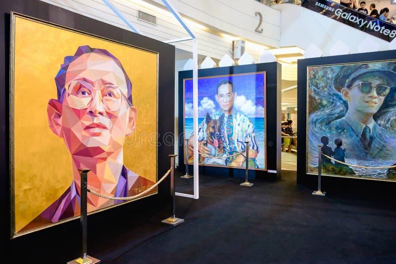 En nuestro evento eterno de la memoria, actual foto de rey Rama 9 por Aree imagen de archivo