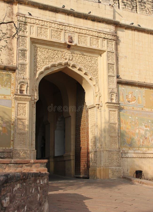 En nyckel i den historiska staden arkivbild