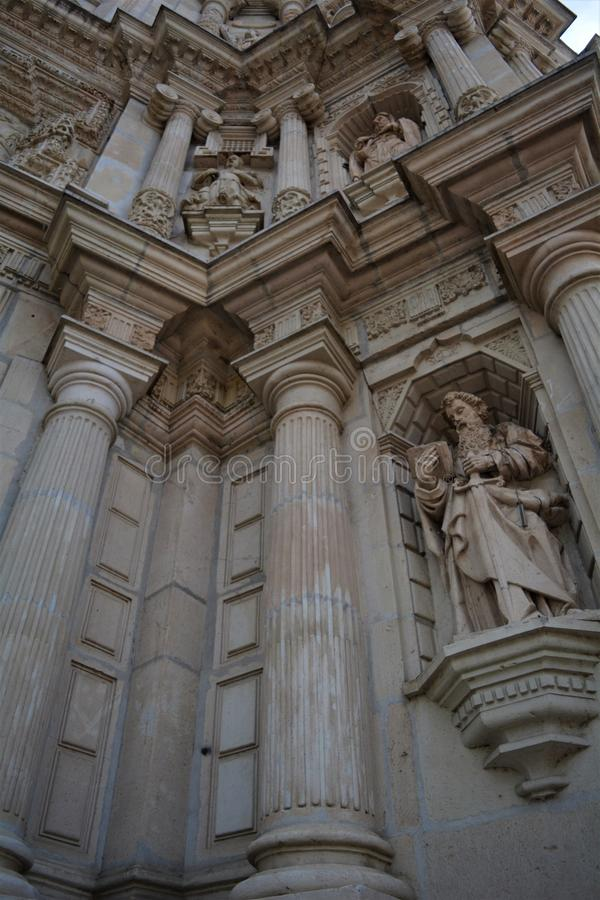 En Oaxaca2 de Iglesia de la Soledad del la de Detalle del Exterior de foto de archivo