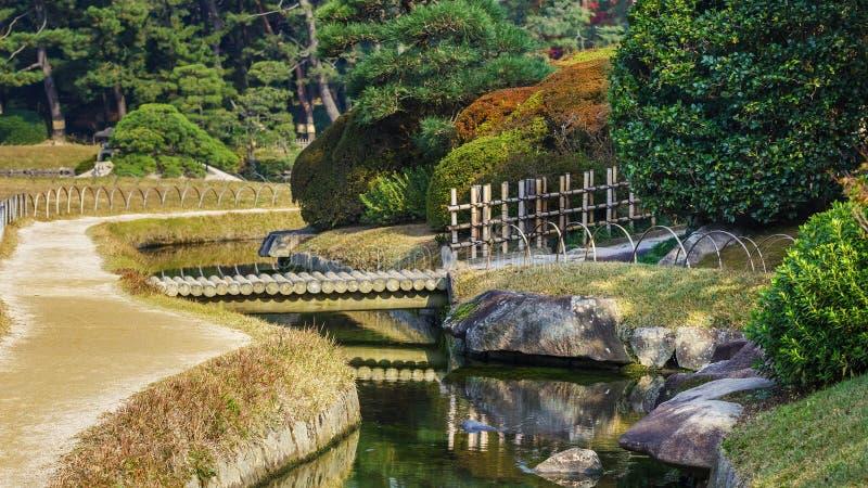 En ogród w Okayama dalej trzy wielkiego ogródu w Jap zdjęcia stock
