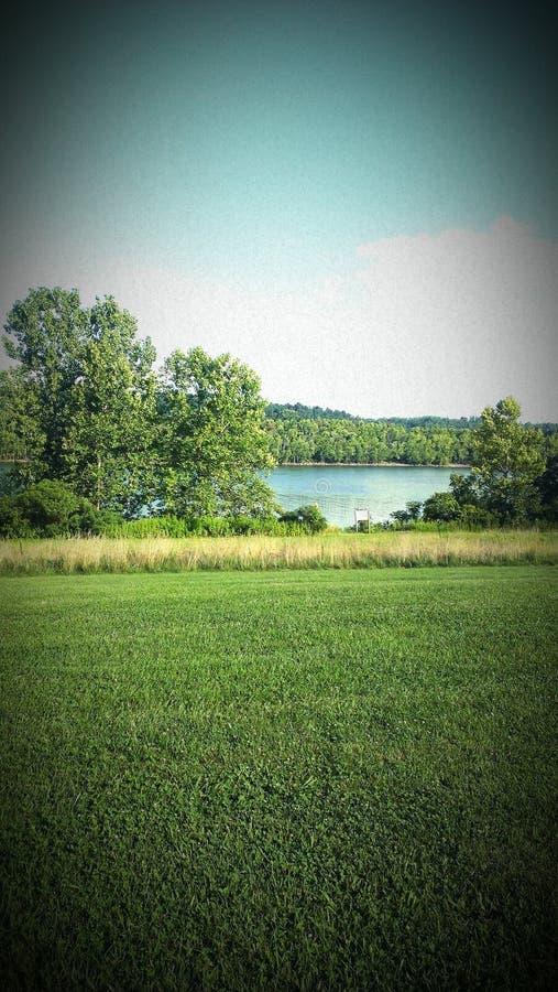 En Ohio River sikt royaltyfria bilder