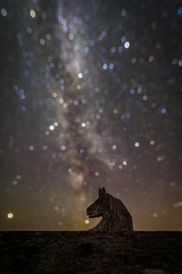 En olik nebulosa för hästhuvud royaltyfri foto