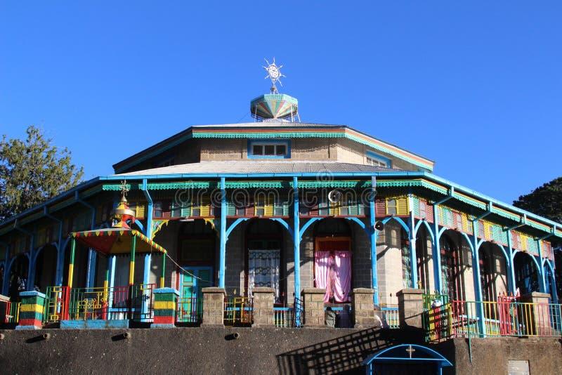 En ortodox kyrka i Addis Ababa royaltyfri fotografi