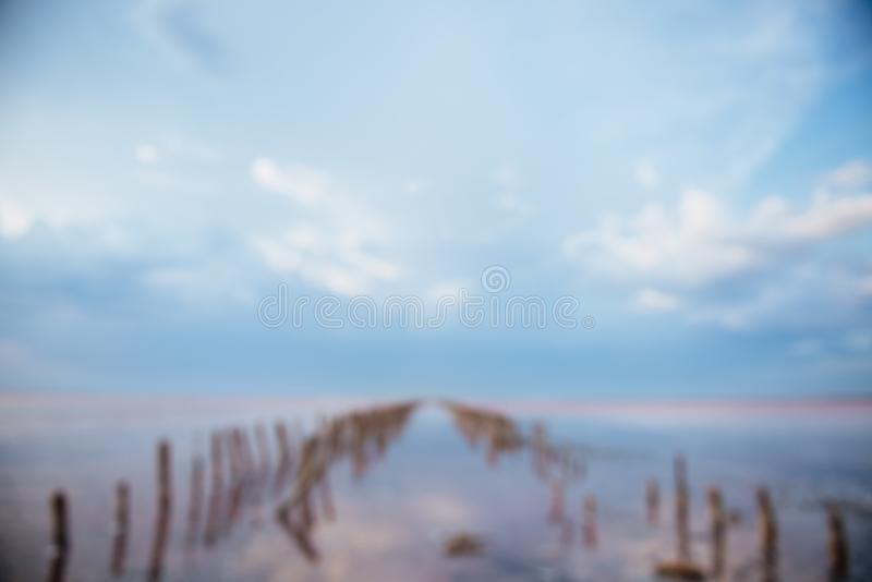 En oskarp version av en härlig landskapbild fotografering för bildbyråer