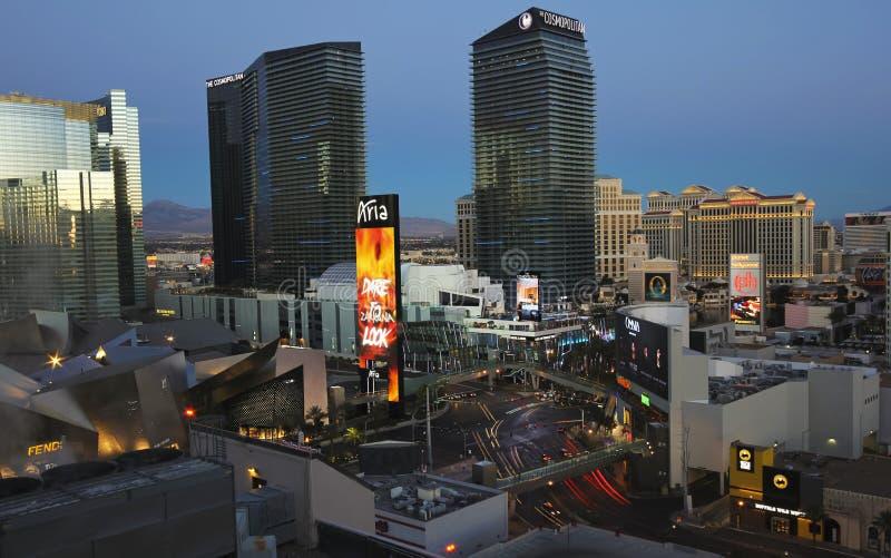 En otta Harmon och Las Vegas Blvd skott arkivbild