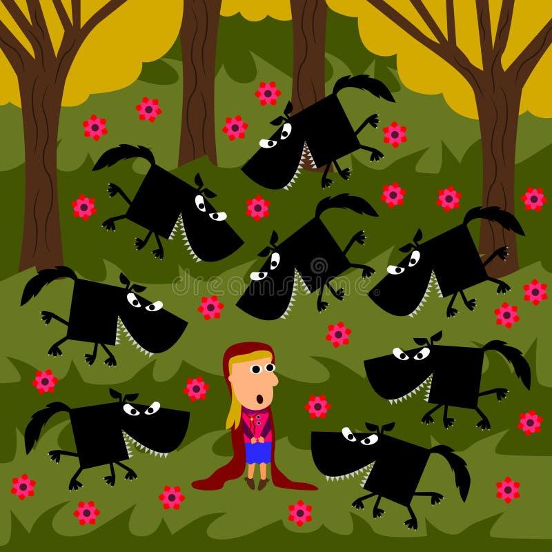 Rov för wolvesna stock illustrationer