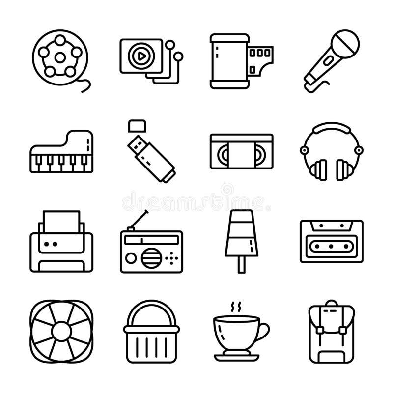 En packe av UI-symboler vektor illustrationer
