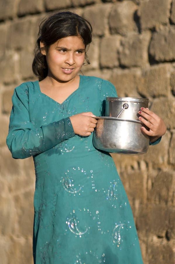 En pakistansk flicka royaltyfria foton
