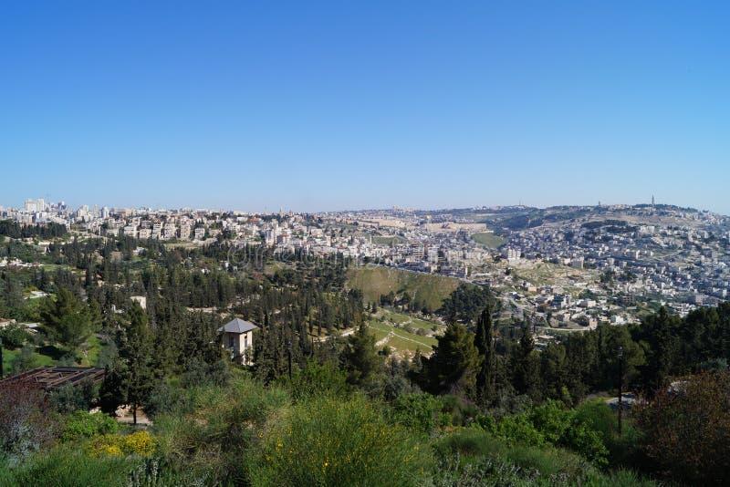 En panorama- plattform i Jerusalem arkivbild