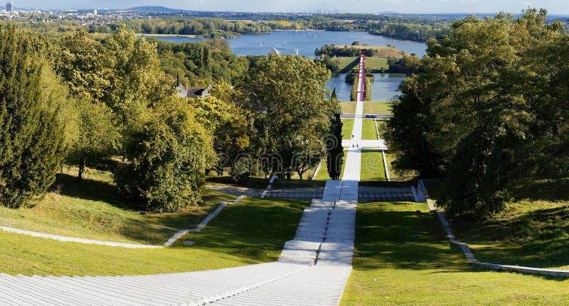 En panoramautsikt av Cergy royaltyfri fotografi