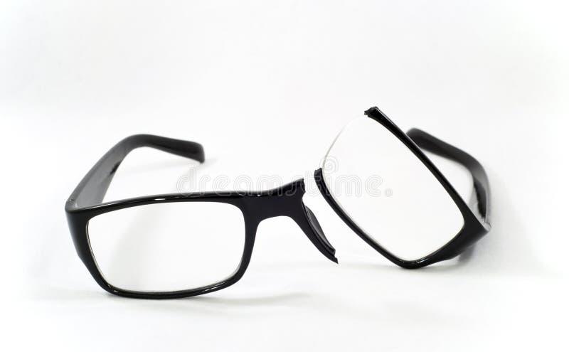 Brutet glasögon arkivfoto