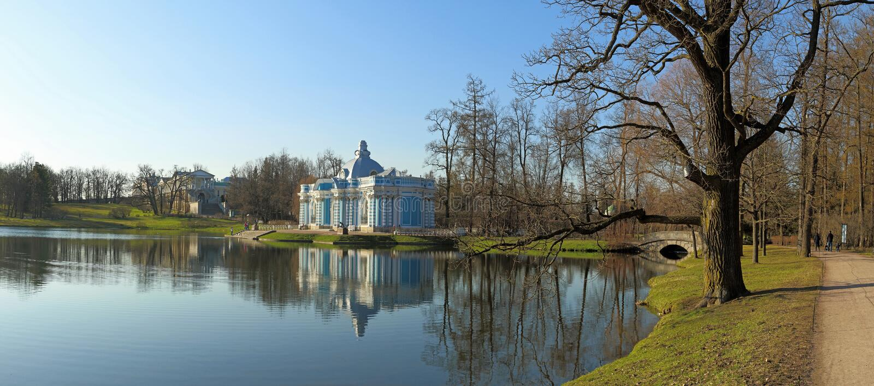 En parc historique antique de la période de Catherine le grea photo libre de droits