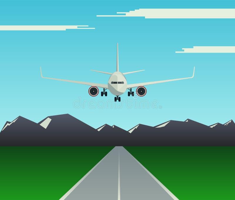 En passagerarenivå landar stock illustrationer
