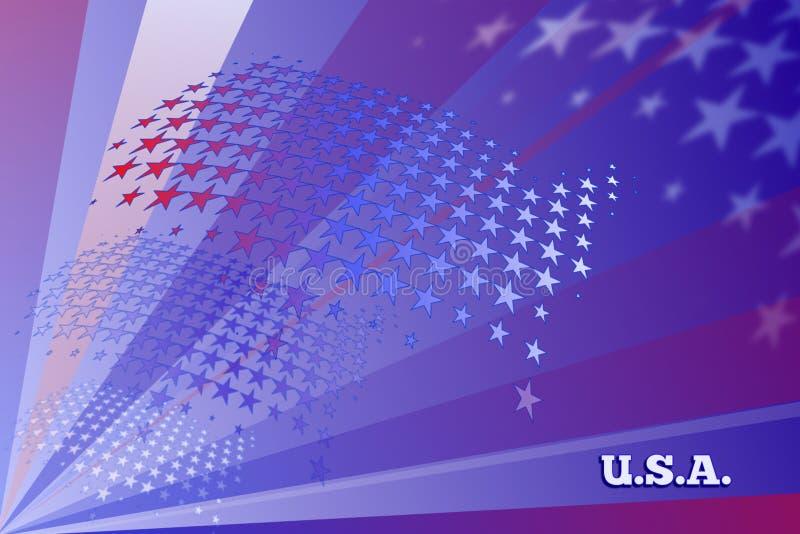 En patriotisk USA bakgrund stock illustrationer