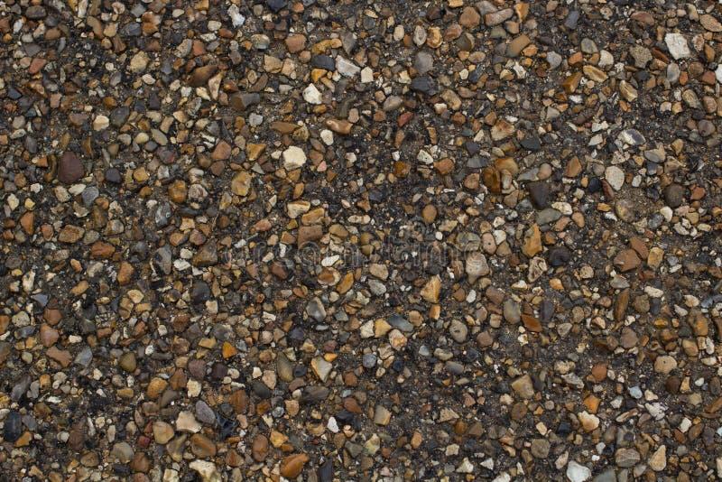 En pebbled gångbana arkivfoton