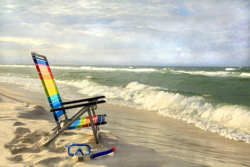 En perfekt dag på stranden arkivfoton