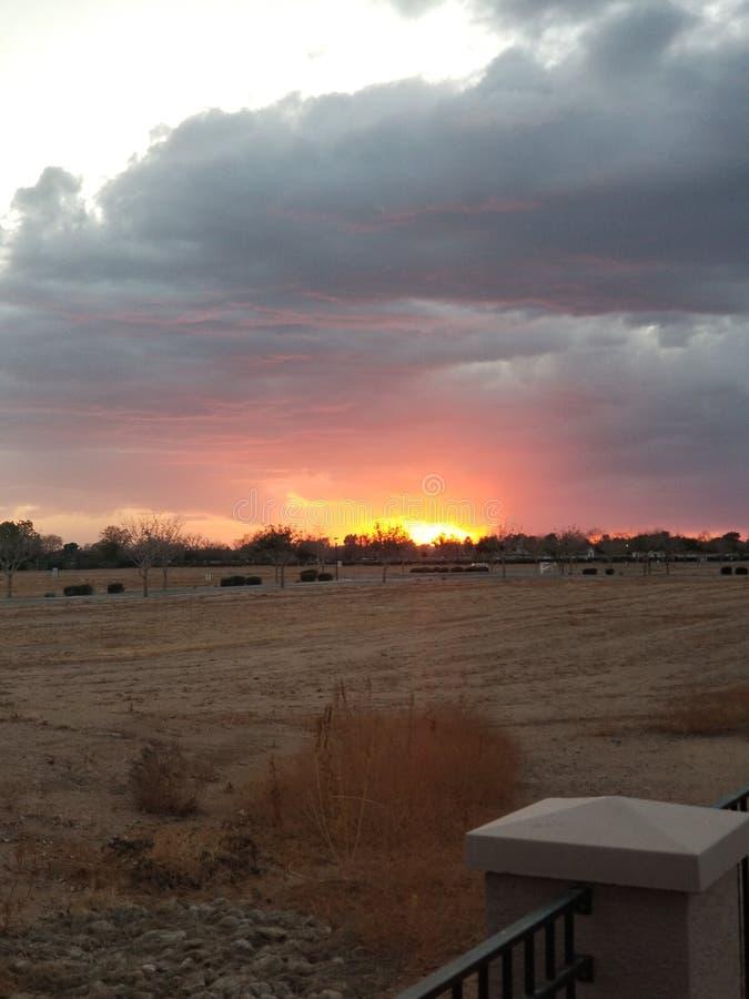 En Phoenix solnedgång arkivfoto