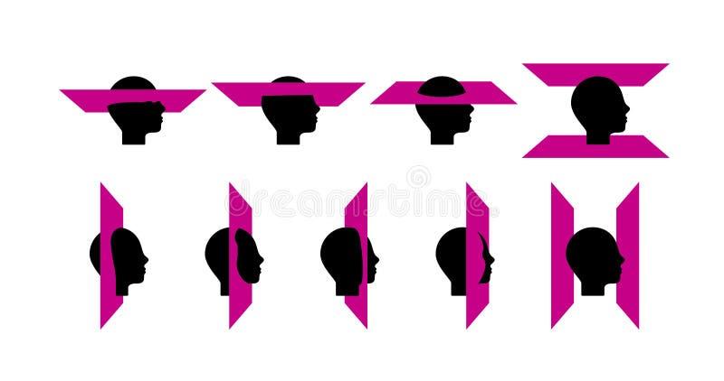 En pictogram av egenart, intellekt, forskning royaltyfri illustrationer