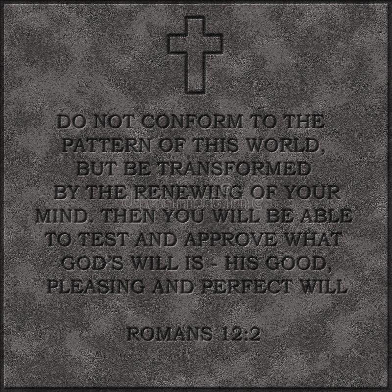 12:2 en pierre réaliste de Romains de bible de plat 12 2 populaires images libres de droits