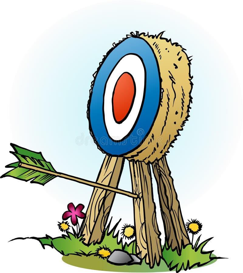 En pil i målben stock illustrationer