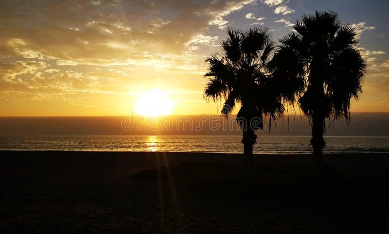 En Playa Chinchoro de Atardecer imágenes de archivo libres de regalías
