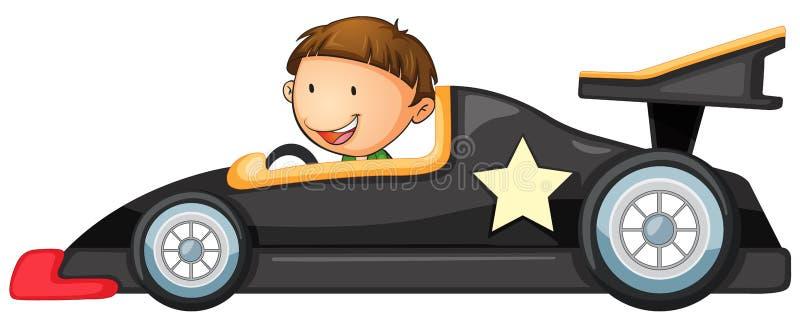 En pojke som kör en bil vektor illustrationer