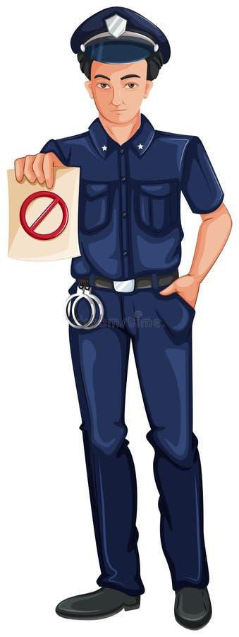 En polis vektor illustrationer