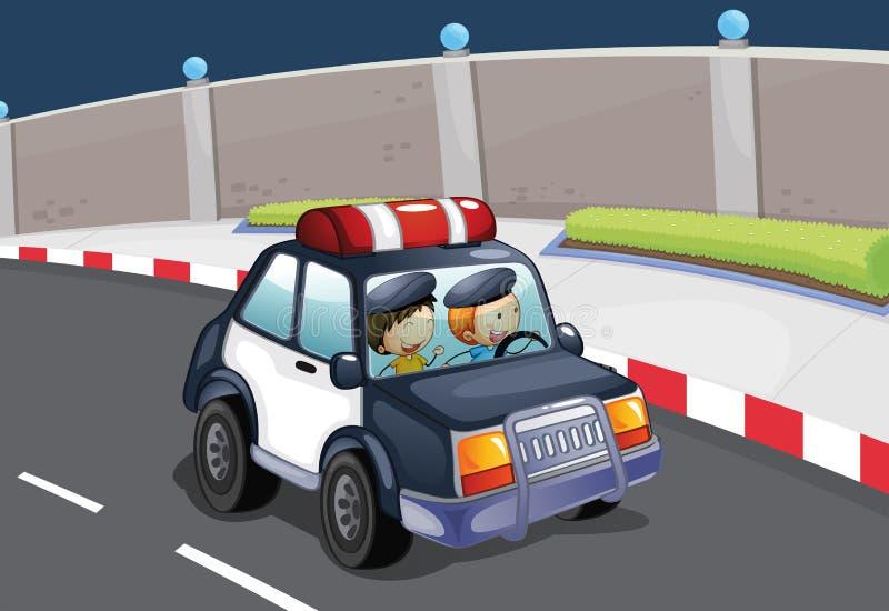 En polisbil vektor illustrationer