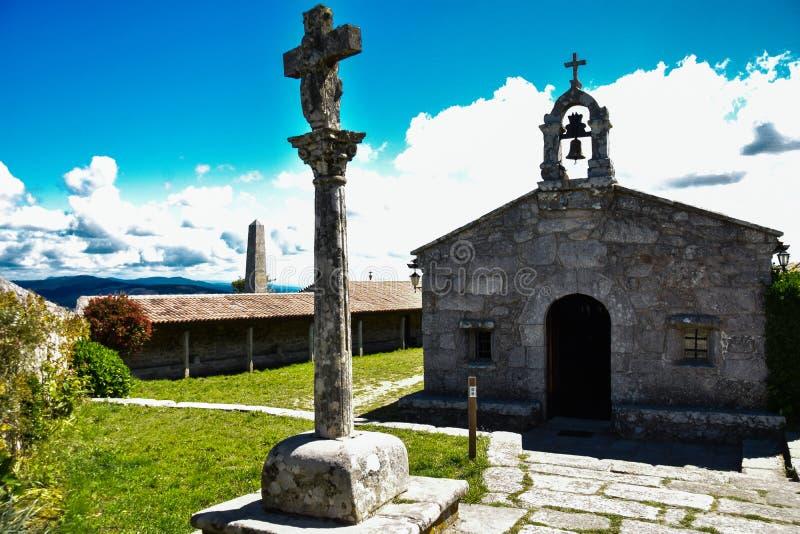 En Pontevedra de Castro de Santa Tecla imagen de archivo libre de regalías