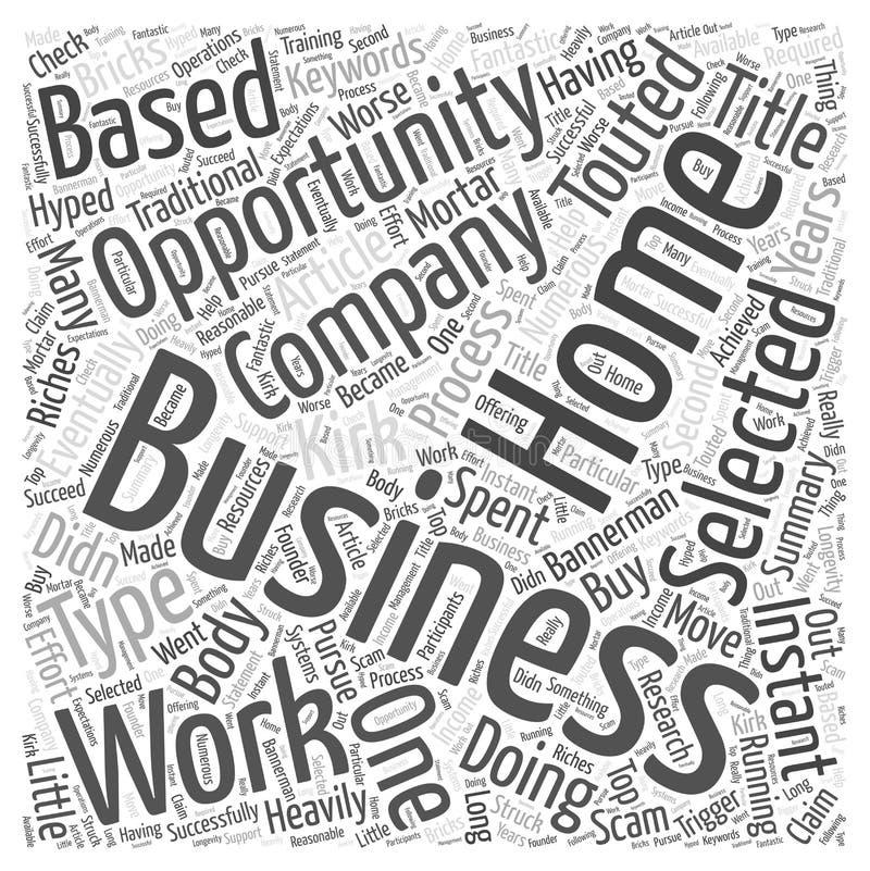 En process för att välja din för affärstillfälle för arbete hemmastadda bakgrund för vektor för begrepp för moln för ord vektor illustrationer