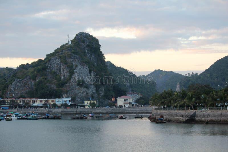 En promenad en Cat Ba ö i Vietnam fotografering för bildbyråer