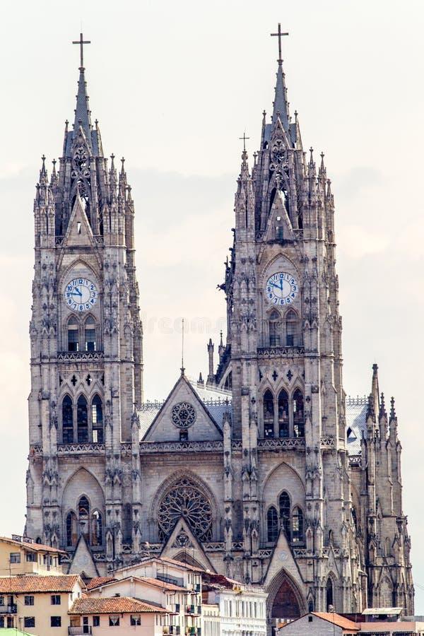 En Quito de la basílica fotografía de archivo