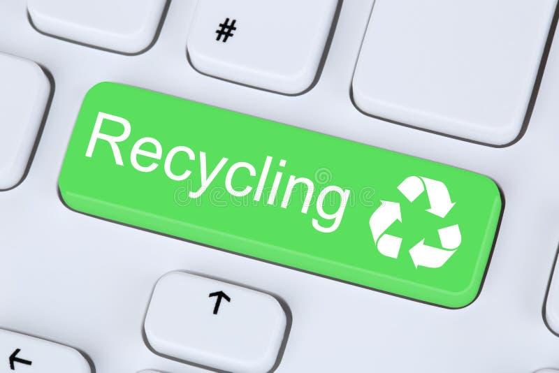 En réutilisant le bouton pour réutilisez la conservation naturelle sur l'ordinateur image stock
