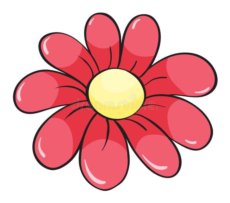 En röd blomma royaltyfri illustrationer