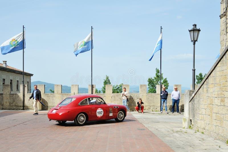 En röda FIAT Zagato E 1100 Berlinetta fotografering för bildbyråer